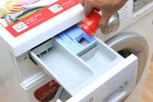 Cách cho nước xả vải vào máy giặt lg