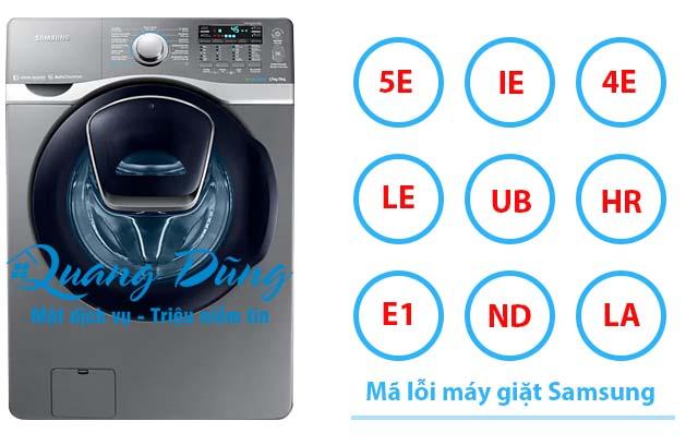 Mã lỗi máy giặt Samsung