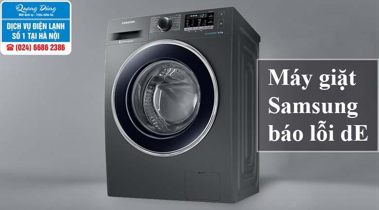 Máy giặt Samsung báo lỗi dE