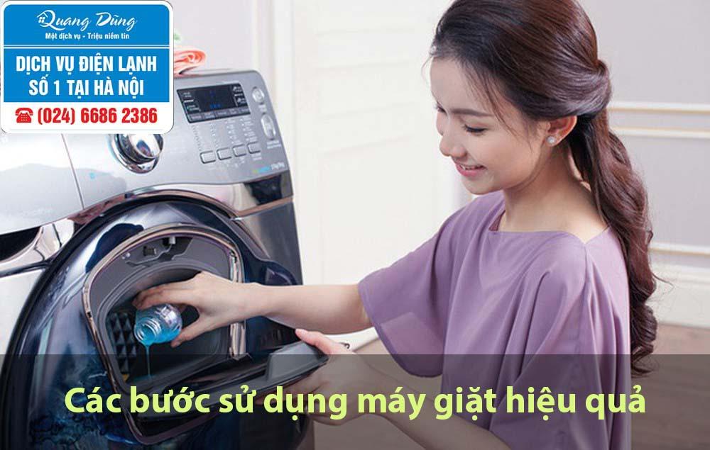 Các bươc sử dụng máy giặt hiệu quả
