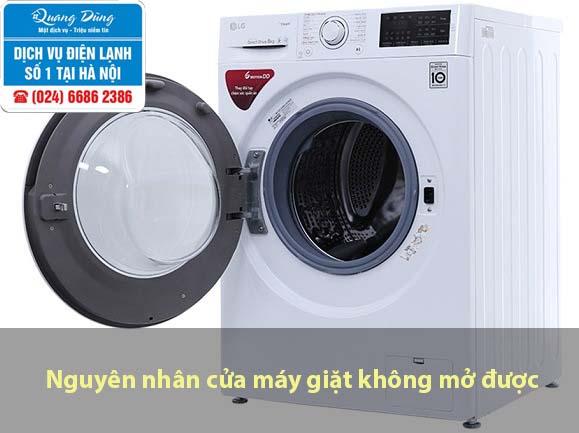cửa máy giặt không mở được