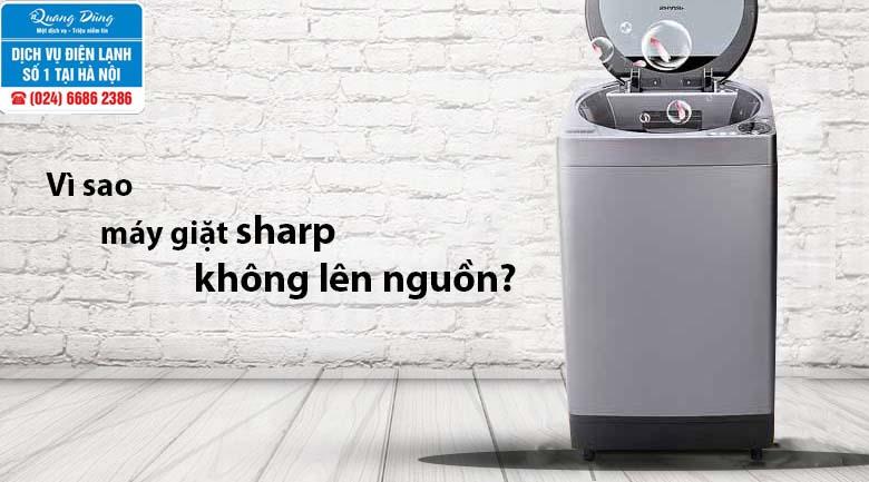 Máy giặt Sharp không lên nguồn