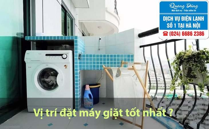 Vị trí đặt máy giặt tốt nhất
