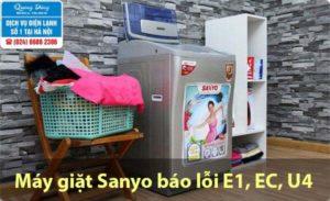 máy giặt sanyo báo lỗi e1
