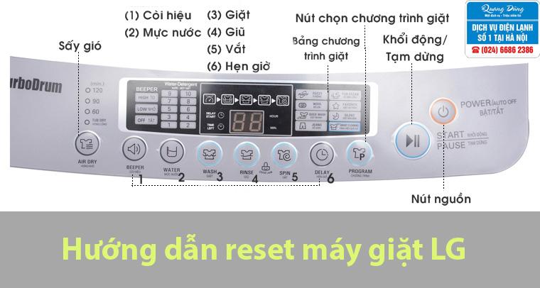 Reset máy giặt LG