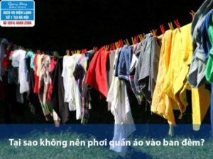 tại sao không nên phơi quần áo vào ban đêm
