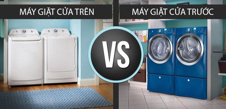 Tại sao máy giặt cửa trên lại đắt hơn máy giặt cửa trước